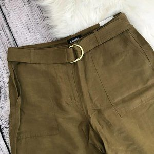 EXPRESS Olive Green High Rise Ankle Pants NWT00968